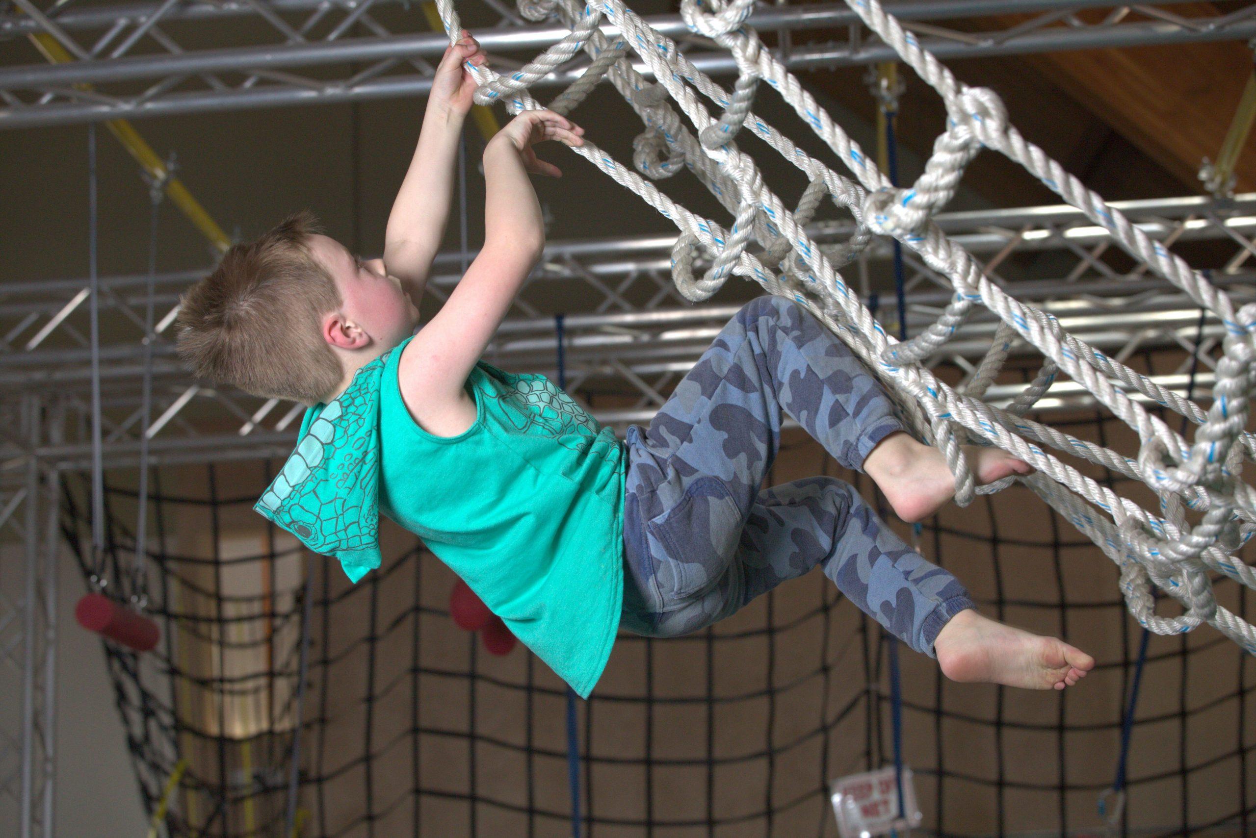 Boy on ropes